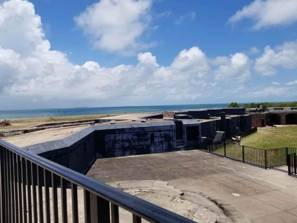 View from the top of Fort Zachary Historic Park in Key West, Florida