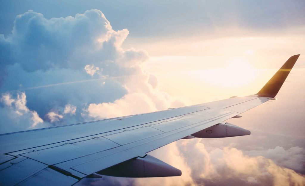 view of airplane's wing