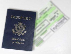 passport with boarding pass