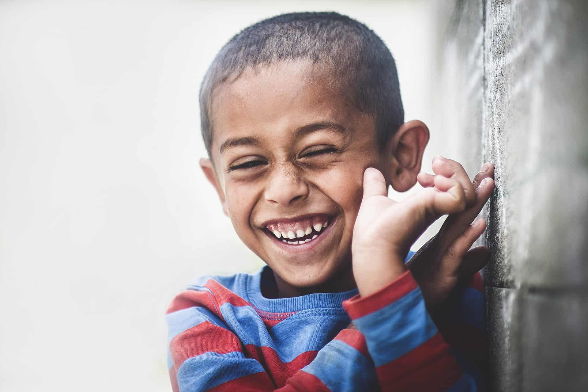 African boy smiling and happy