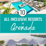 Pinterest pin for all inclusive resorts in Grenada