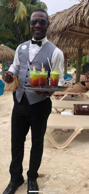 Gawayne the butler from the Sandals Resort in Negril Jamaica