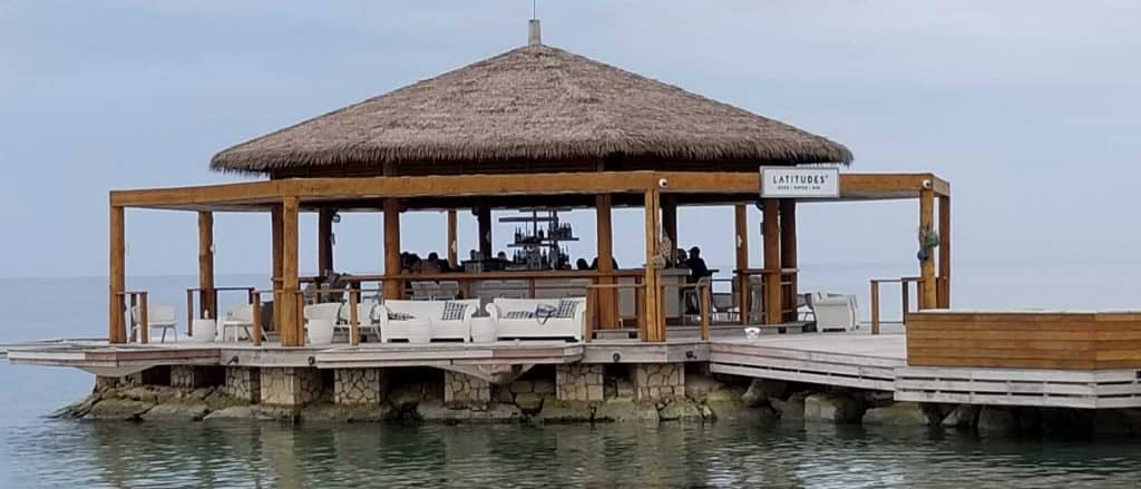 Latitudes, the over-the-water bar at Sandals Montego Bay