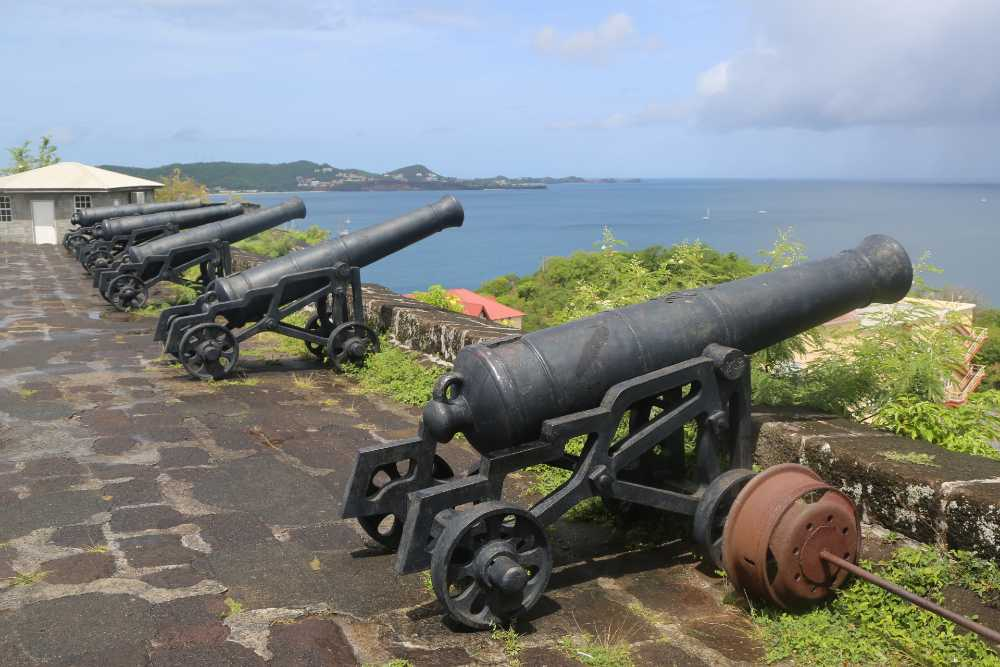 View of Grenada from Fort George