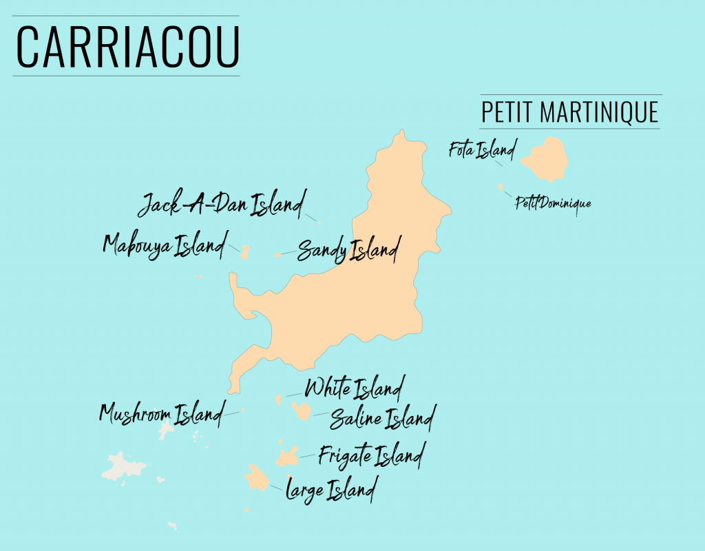 The tiny islands around Carriacou and Petit Martinique