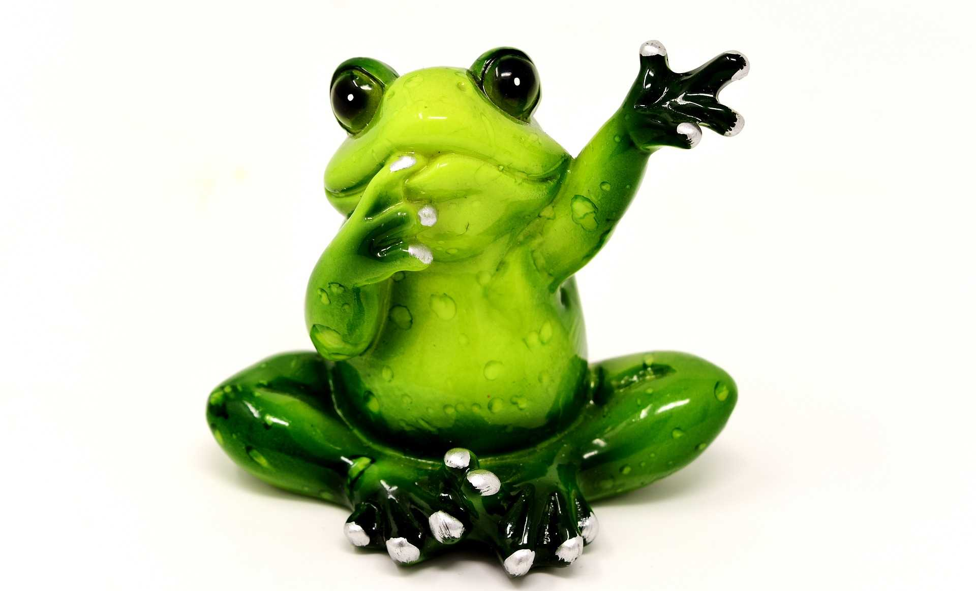 cartoon frog waving hello