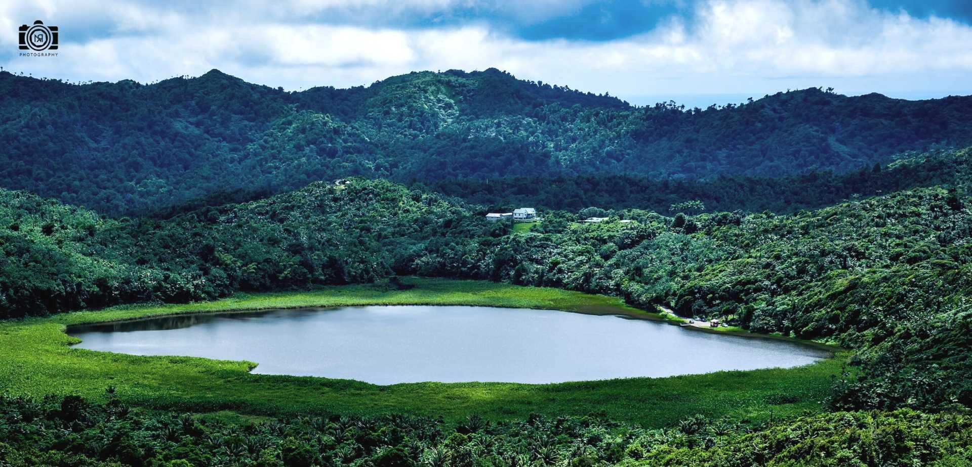 Grand Etang Lake in Grenada