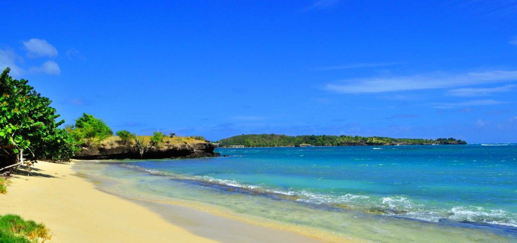 the shores of Hog island in Grenada