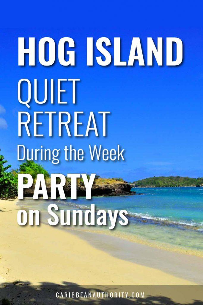 Pinterest pin for Hog Island