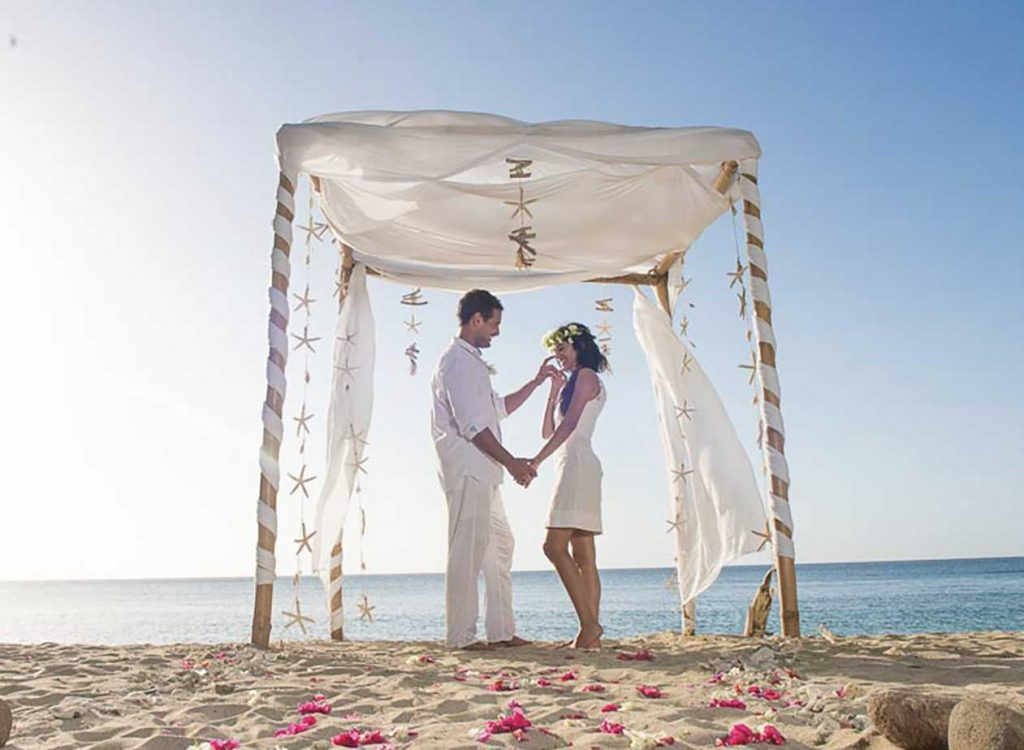 A wedding on the beach at Laluna Hotel in Grenada, West Indies