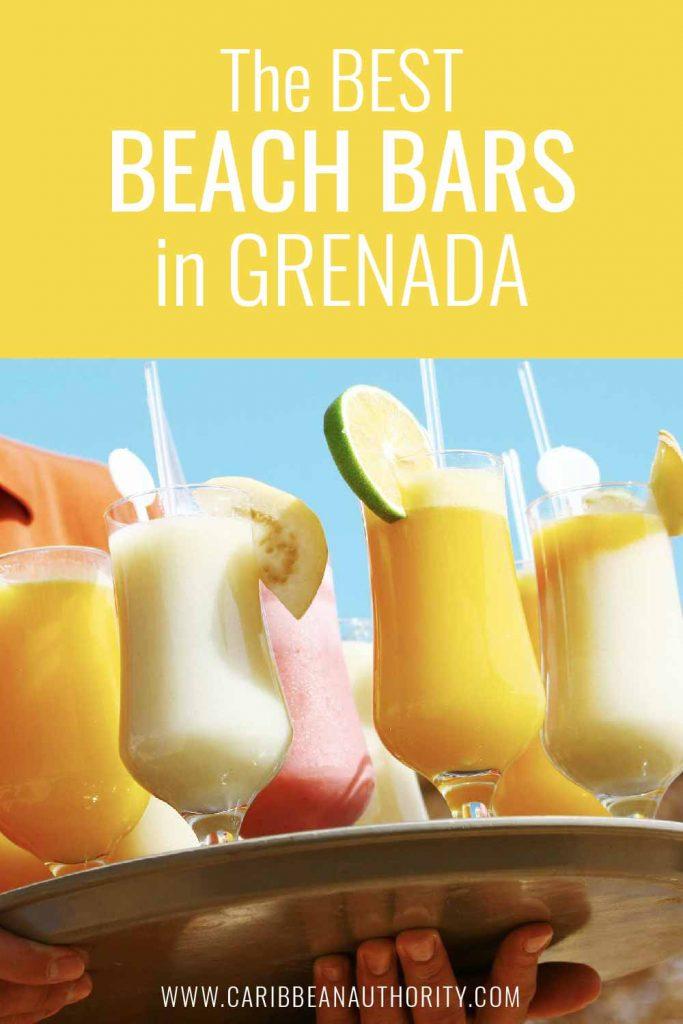 Pinterest pin of the Best Beach Bars in Grenada