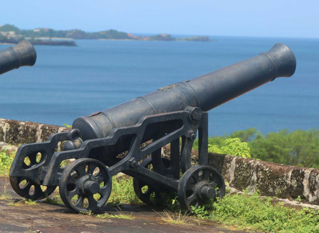 a cannon at Fort Georges, Grenada
