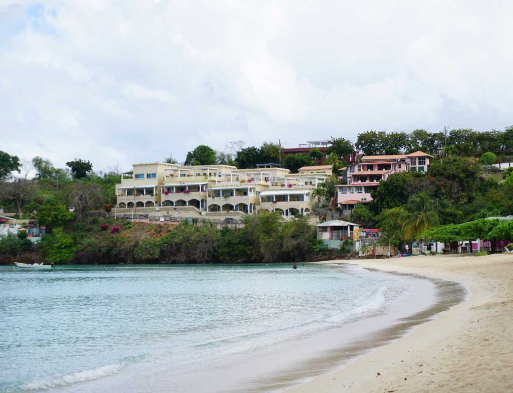 Mariposa Condos overlooking Morne Rouge Beach in Grenada.